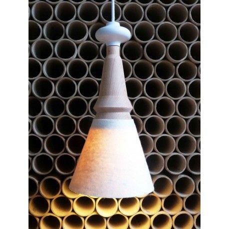 Marcel I, suspension éco design en bois et feutre, luminaire écologique made in France, Metylos.