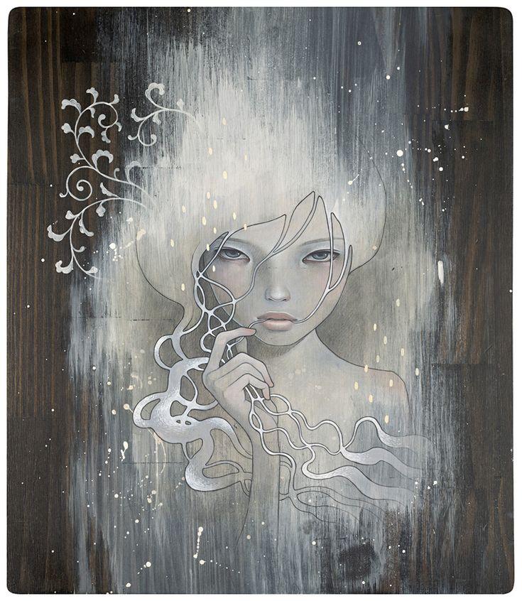 Audrey Kawasaki: Wood Art, Artists, Audreykawasaki, Inspiration, Art Paintings, Illustrations, The Angel, Audrey Kawasaki, Dr. Who