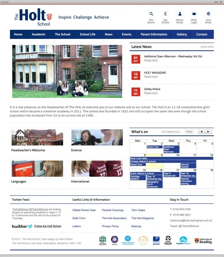 The Holt School looked to us to design a site that would set them apart from the other schools in the area.
