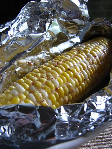 Pinner said-Baked Corn on the Cob. 375-degree oven and baked for 25 minutes. Just perfect. No need to boil !