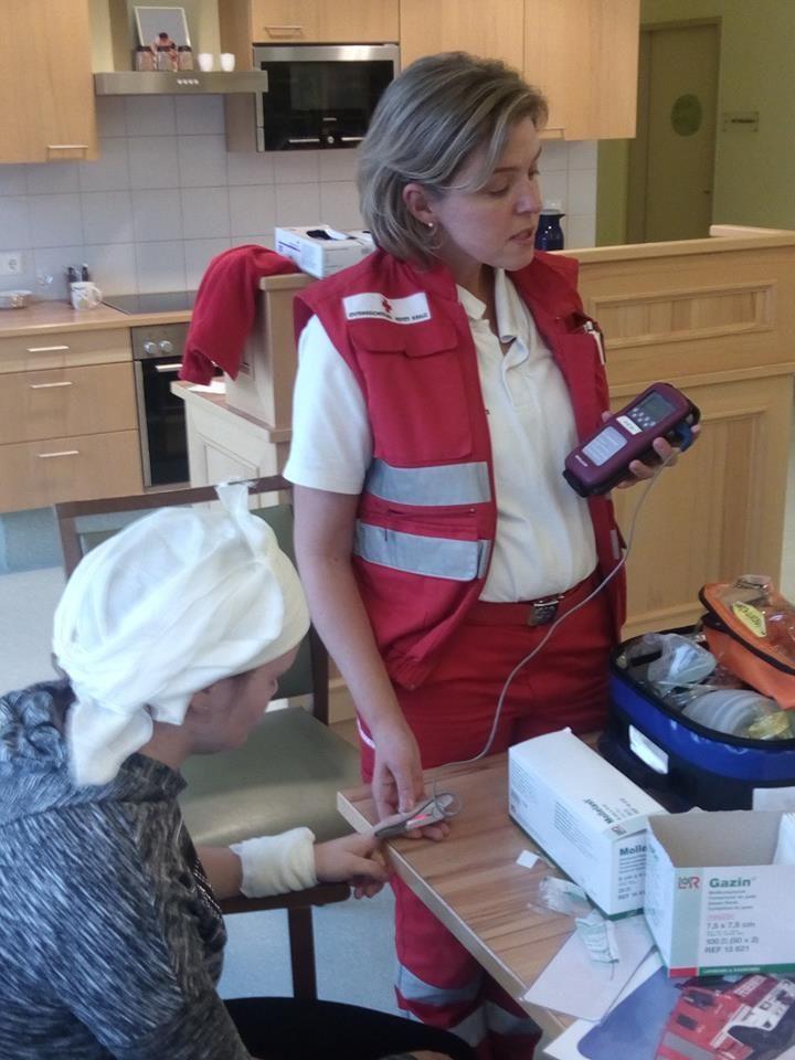 Erste-Hilfe Kurs vom Roten Kreuz in Wolfsberg für Klienten der DR. DR. WAGNER GESUNDHEIT & PFLEGE Tagesstätte Bad St. Leonhard.
