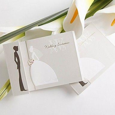 sposa il design semplice e l'inviti matrimonio dello sposo (set di 50) – EUR € 32.99