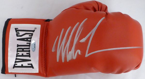 Mike Tyson Autographed Red Everlast Boxing Glove TriStar #7827203