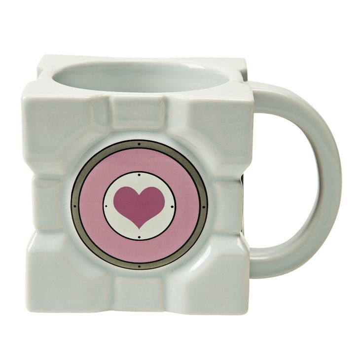 Portal 2 Companion Cube Ceramic Mug, Multi-Colored