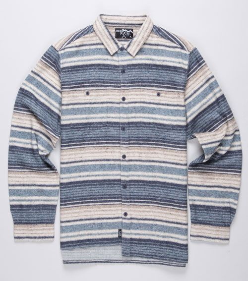 p.a.m striped flannel shirt, cool detail on edge. #asymmetric