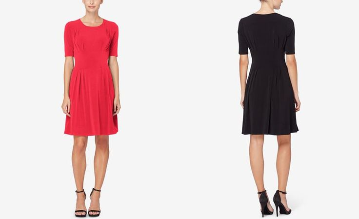 Catherine Catherine Malandrino Pleated Fit & Flare Dress - Dresses - Women - Macy's