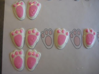 printable template for bunny feet royal icing transfers
