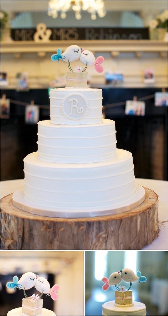 Love #birds #wedding #cake