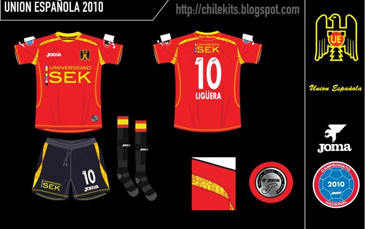 Union Espanola of Chile home kit for 2010.