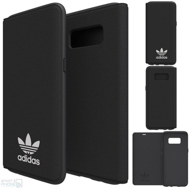"""adidas Book Case Samsung Handy Galaxy S8 5,8"""" G950 Cover Tasche Schutz Hülle blk"""