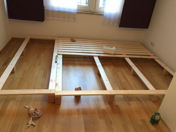 bauanleitung f r ein familienbett einrichtung bett. Black Bedroom Furniture Sets. Home Design Ideas