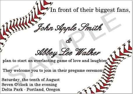 Baseball Digital Wedding Invitation By Heaskedshesaidyes
