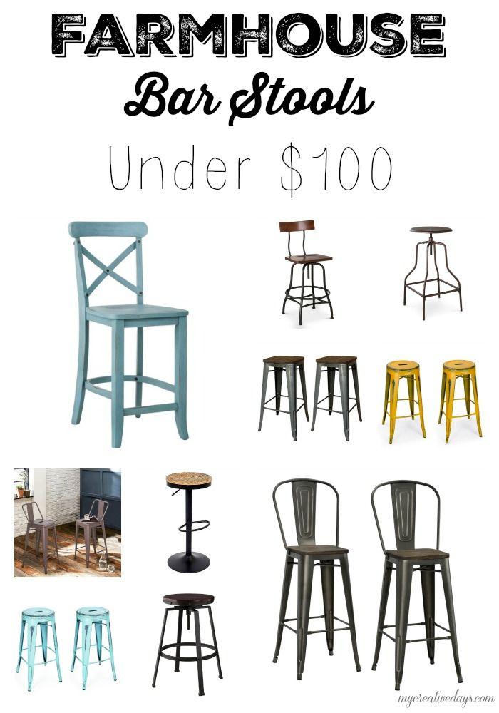 mycreativedays: Farmhouse Bar Stools Under $100
