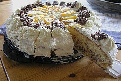 Schoko Crossie - Torte mit Pfirsich