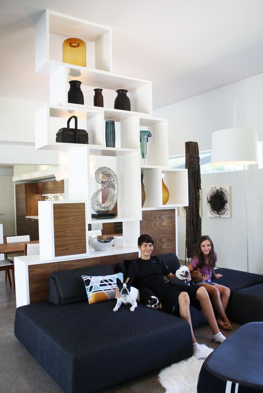 Deron & Marye's Modern Geometry House Tour - that is one funky room divider