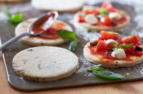 Gluten-free basil pizza