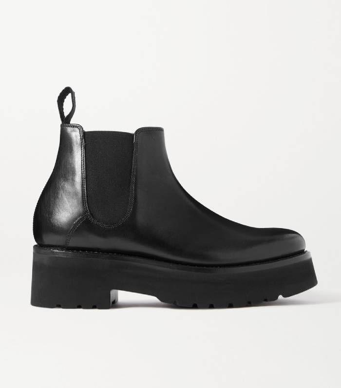 Black Naomi leather platform Chelsea