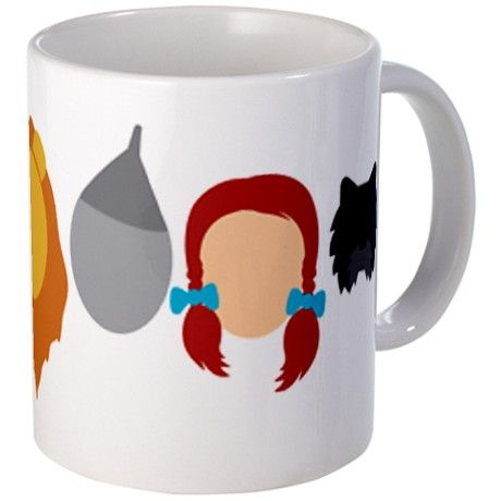 Oz Character Mug - CafePress 'There's no place like mammy's' Paint with yellow brick road and red shoes.