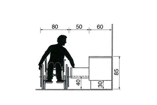 Pour adapter une cuisine à une personne en fauteuil roulant, certains aménagements sont nécessaires : hauteurs des meubles et équipements, espaces de circulation... Voici plus de 30 schémas pour une cuisine facilement accessible à une personne en fauteuil roulant...