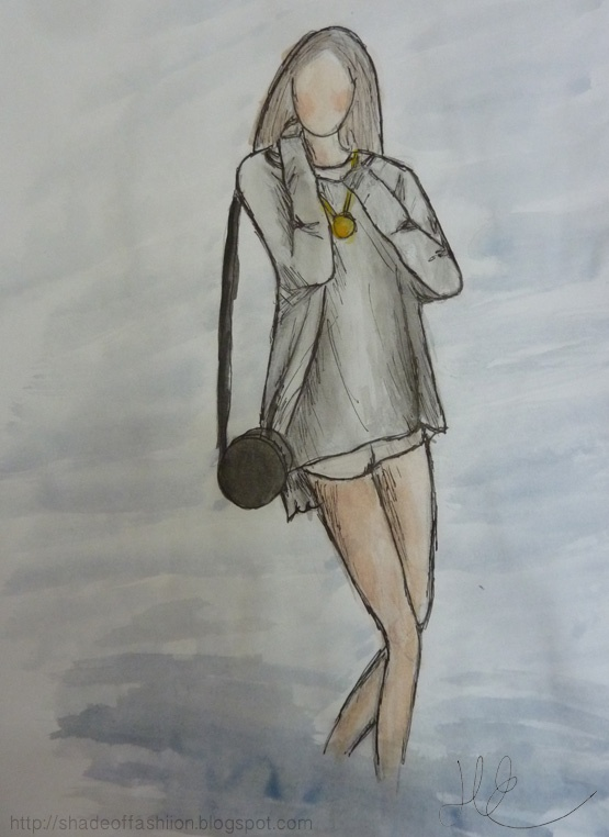 Shade of Fashiion - #watercolour #art #fashion #drawing