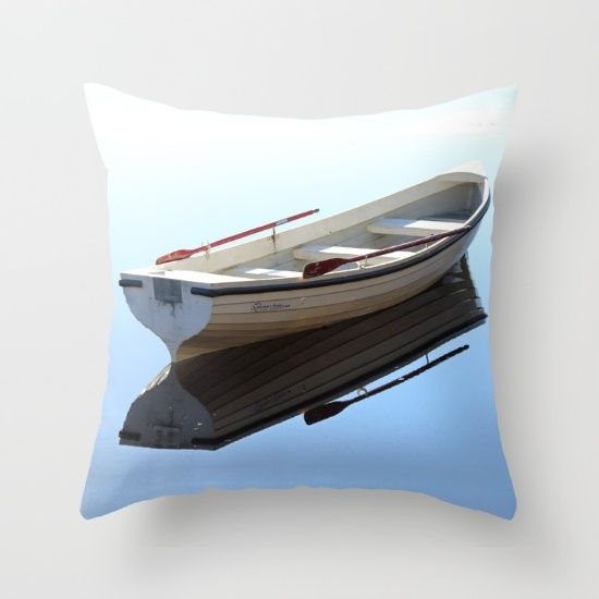 Messing about on the river Throw Pillow