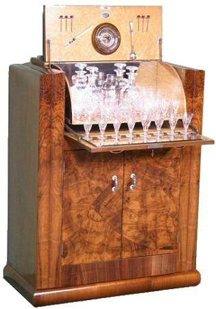 <title> <title>Art Deco cocktail cabinet