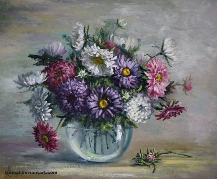 Asters by Lidia Olbrycht /Poland