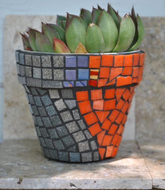 Mosaic Flower Pot Mosaic Bottles Mosaic Flower Pots