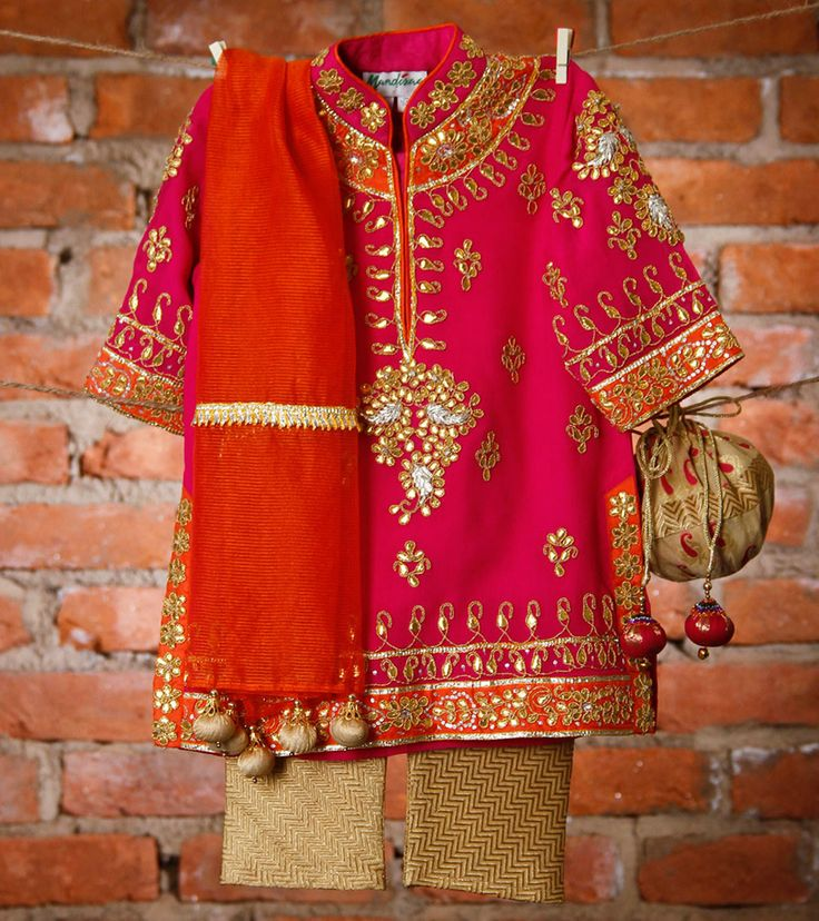 Fuchsia Silk Georgette Suit