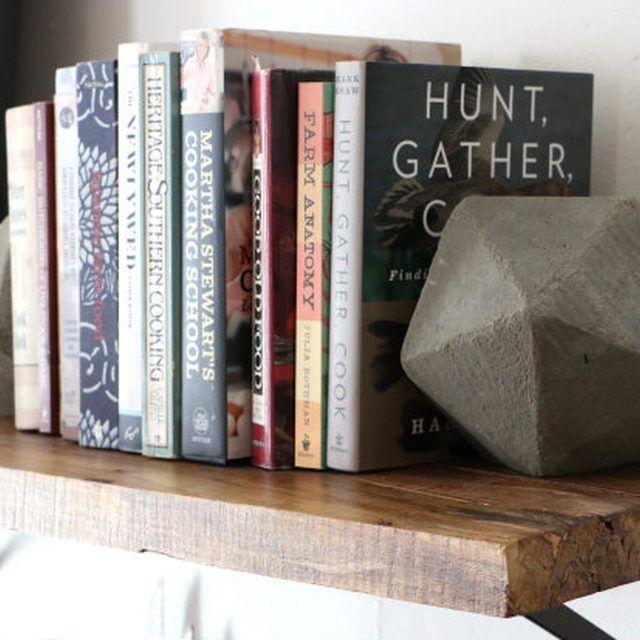 Geometric concrete bookends