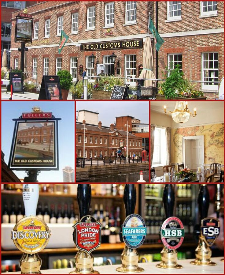 The Old Customs House, Portsmouth England. Fullers on draught, some of my favorite beers!