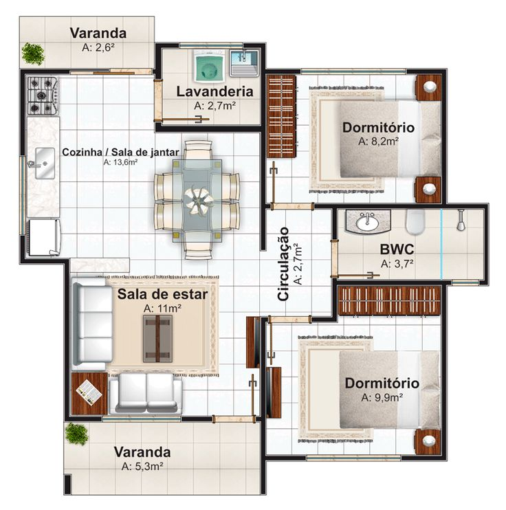 Favoritos 21 best 2 Quartos images on Pinterest | Floor plans, My house and  ZX69