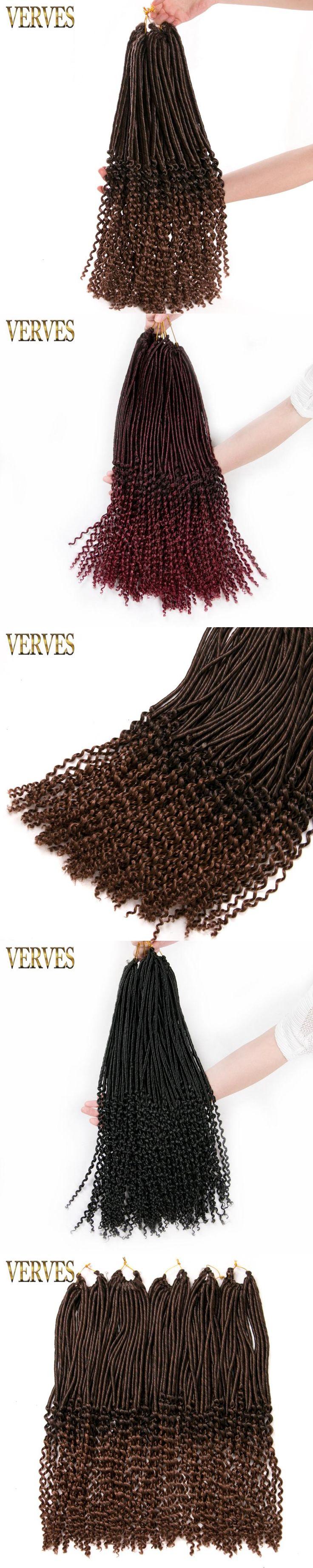 1 pack Crochet Braid hair extensions Faux Locs curly Hair 20 inch 24 strands/pack VERVES Synthetic Fiber Braiding Hair