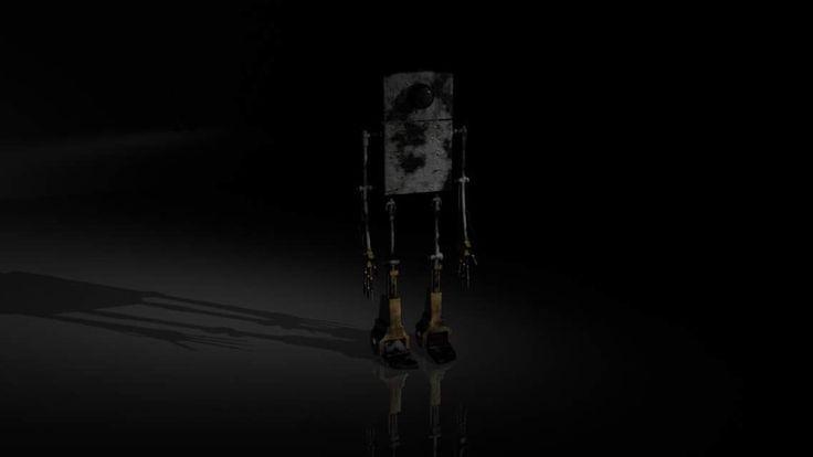 Robot model of a zippo