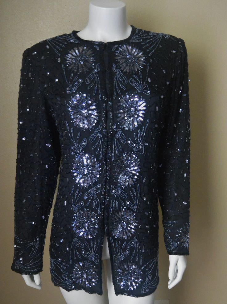 Silver Beaded Evening Jacket