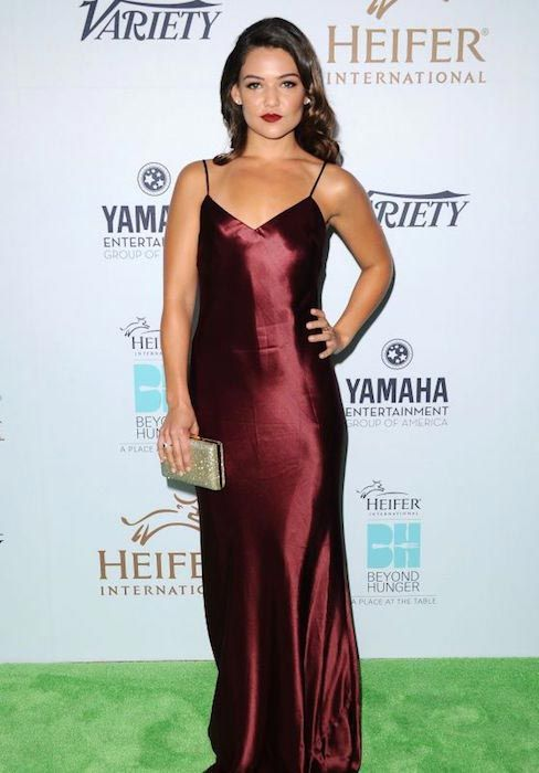Danielle Campbell at 2015 Heifer International's Beyond Hunger Gala....