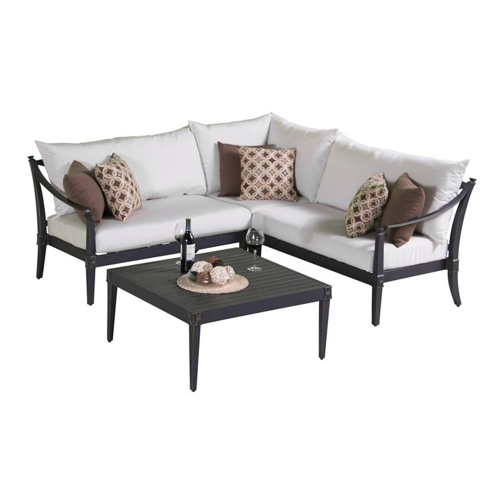 Shop RST Brands  OP-ALSS4-AST-MOR-K Astoria™ Moroccan Cream Outdoor 4-Piece Sectional and Table Set at ATG Stores. Browse our conversation sets, all with free shipping and best price guaranteed.