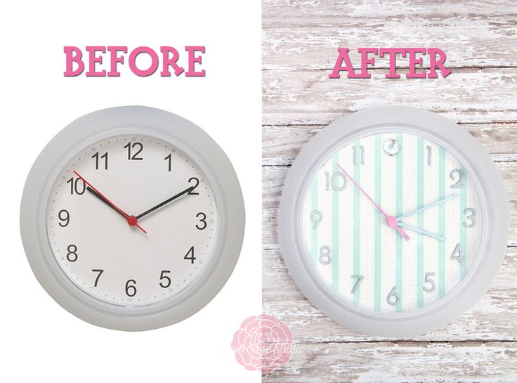 The 25 best ikea clock ideas on pinterest vanities teen cute clock makeover gumiabroncs Gallery