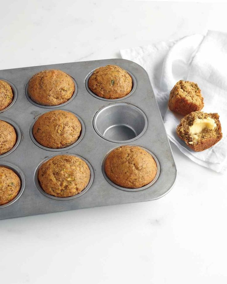 Zucchini, Banana, and Flaxseed Muffins #healthy #breakfast #recipes http://greatist.com/health/healthy-fast-breakfast-recipes