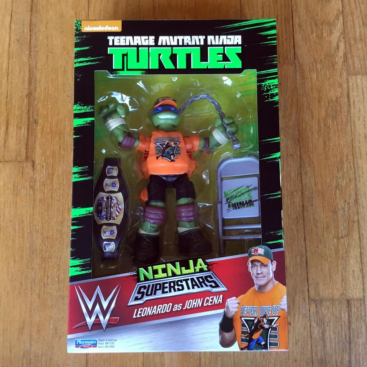 2016 Teenage Mutant Ninja Turtles Playmates Toys / World Wrestling Entertainment (WWE)  Ninja Superstars  WALMART EXCLUSIVE  Leonardo as JOHN CENA  New in Box (NIB) Sealed Directly from Playmates Toys via Pre-order from Ringside Collectibles, Inc  RIP MACHO MAN WE LOVE YOU BROTHER