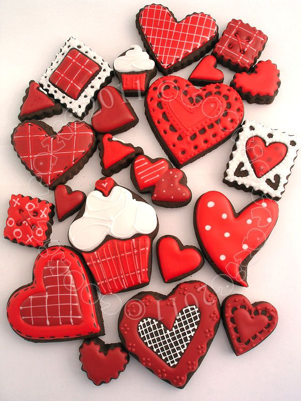 Awesome valentines ideas. Don't you just LOVE the square button cookie?