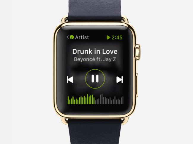 Concept Apple Watch – App Spotify