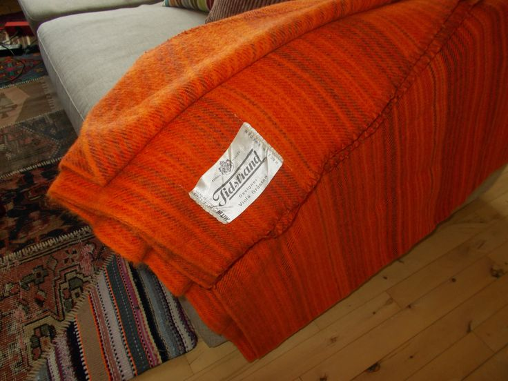The Tidstrand plaid in orange colors