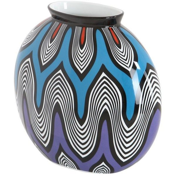 Missoni By Richard Ginori 1735 Home Sunset Porcelain Vase ($415) ❤ liked on Polyvore featuring home, home decor, vases, multi, richard ginori, porcelain vase, handmade home decor and colored vases