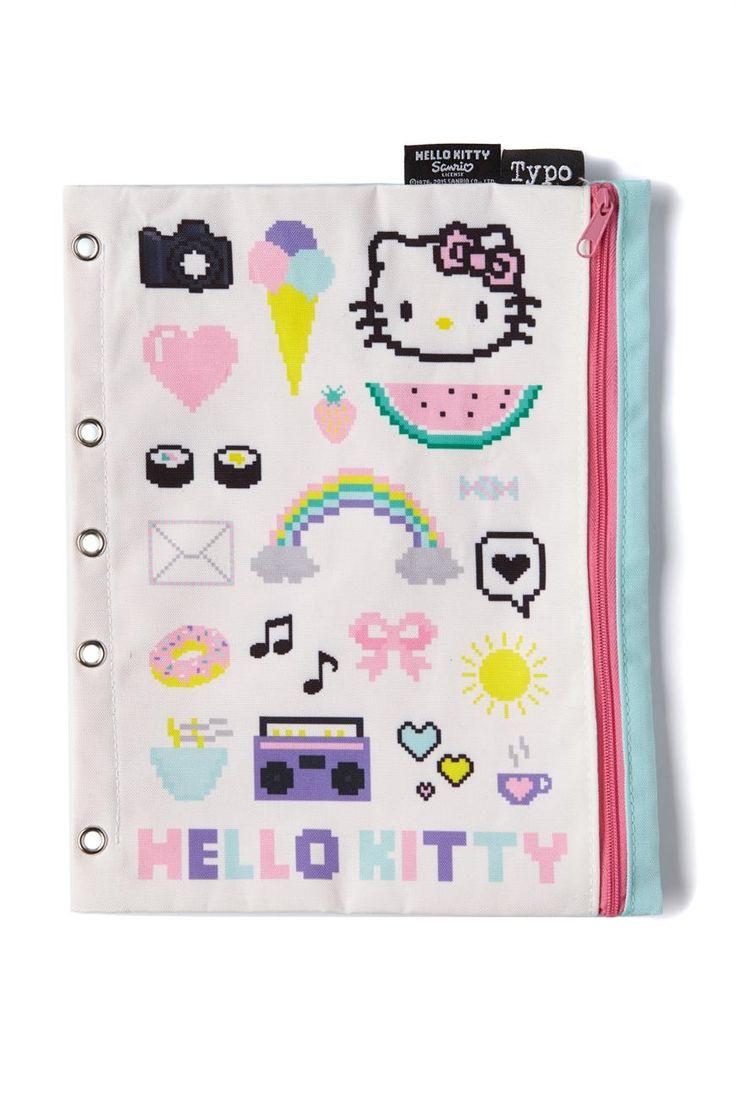 binder pencil case, HELLO KITTY COLLAGE