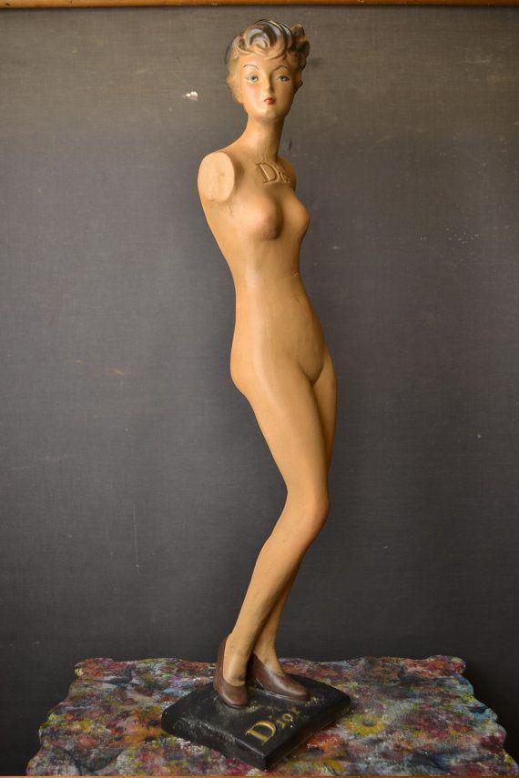Adorable Vintage Mannequin by LievreVintage on Etsy