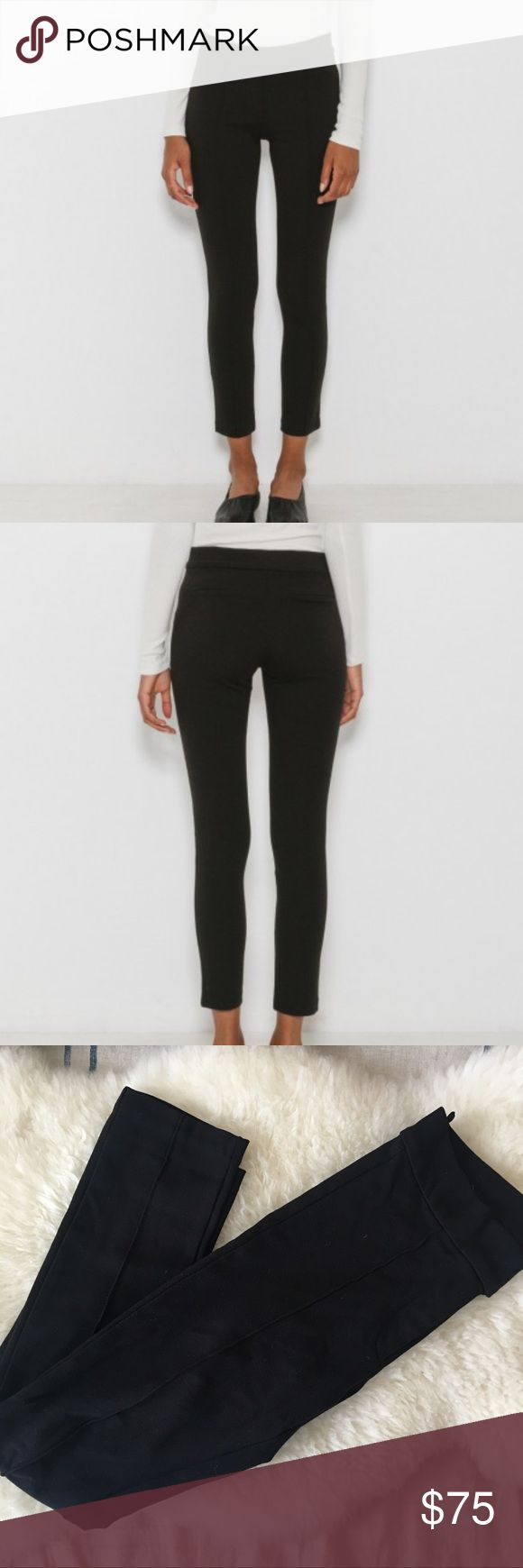 ✨SALE✨ Classic Black Pin-Tuck Stretch ponte knit pants with pintuck detail down front. Zip front hook and bar closure. 69% viscose, 25% nylon, 6% elastane. Made in the U.S.A. for GBTSO, a classic women's line designed by Citizens of Humanity co-founder John Ward. Women's size XS. Measurements are taken flat: Waist - 14 in, Hip - 17 in, Rise - 7 in, Inseam - 28 in. These look like flattering pants but feel as comfy as high-quality, thick-material leggings. Purchased NEW in January 2017…