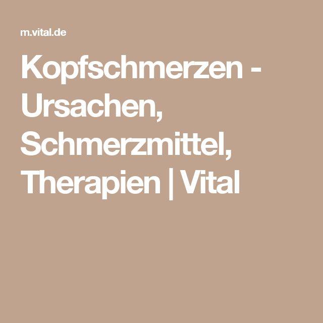 Kopfschmerzen - Ursachen, Schmerzmittel, Therapien | Vital