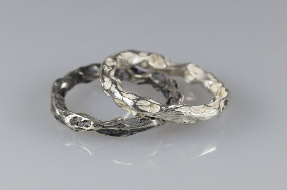 Cool Silver Ring for him  Stacking Ring  Unisex  by NyamiJewelry