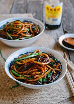 Shanghai Fried Noodles - authentic take on a popular Chinese dish. This recipe is so simple to make, and it will be on the table within 15-20 minutes. – More at http://www.GlobeTransformer.org